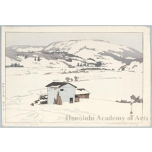 Yoshida Hiroshi: Winter in Taguchi (Later printing by Toshi Yoshida) - Honolulu Museum of Art