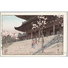 吉田博: The Chion-in Temple Gate (Later printing by Toshi Yoshida) - ホノルル美術館