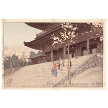 Yoshida Hiroshi: The Chion-in Temple Gate - Honolulu Museum of Art