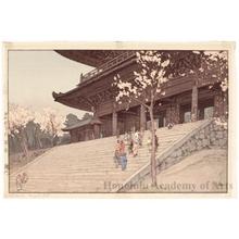 吉田博: The Chion-in Temple Gate - ホノルル美術館