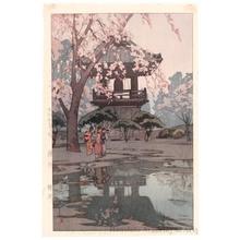 Yoshida Hiroshi: Temple Bell Tower - Honolulu Museum of Art