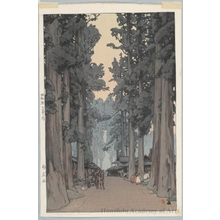 Yoshida Hiroshi: Cryptomeria Avenue (Later printing by Toshi Yoshida) - Honolulu Museum of Art