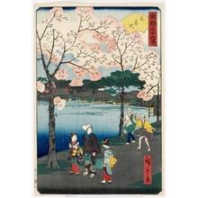 二歌川広重: Shinobazu Pond - ホノルル美術館