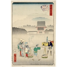Utagawa Hiroshige II: Morning Mist at Zojoji Temple - Honolulu Museum of Art