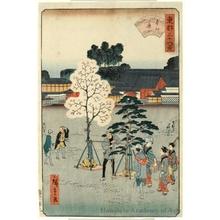 Utagawa Hiroshige II: Motoguchi Avenue - Honolulu Museum of Art