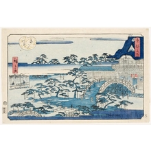 Utagawa Hiroshige II: Kameido Temple - Honolulu Museum of Art