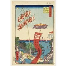 Utagawa Hiroshige: Kanasugi Bridge and Shibaura - Honolulu Museum of Art