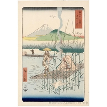 Utagawa Hiroshige: The Sagami River - Honolulu Museum of Art