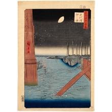 歌川広重: Tsukudajima from Eitai Bridge - ホノルル美術館