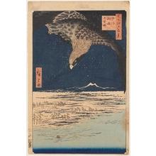 歌川広重: Fukagawa Susaki and Jümantsubo - ホノルル美術館