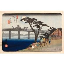 歌川広重: Nagakubo - ホノルル美術館