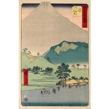Utagawa Hiroshige: Mt. Fuji and Mt. Ashitaka from Hara (Station #14) - Honolulu Museum of Art