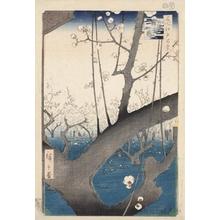 Utagawa Hiroshige: Plum Estate, Kameido - Honolulu Museum of Art