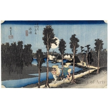 Utagawa Hiroshige: Twilight at Numazu (Station #13) - Honolulu Museum of Art