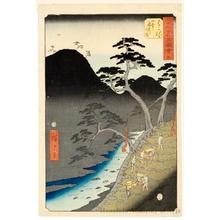 Utagawa Hiroshige: Traveling at Night Through the Hakone Mountains (Station #11) - Honolulu Museum of Art
