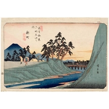 Utagawa Hiroshige: Shinmachi - Honolulu Museum of Art