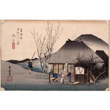 Utagawa Hiroshige: The Famous Teahouse at Mariko (Station #21) - Honolulu Museum of Art