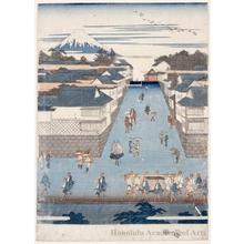 歌川広重: Kasumigaseki - ホノルル美術館