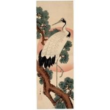 歌川広重: Crane, Pine and Rising Sun (descriptive title) - ホノルル美術館