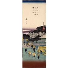 歌川広重: Akabane Zöjöji Temple at Shiba - ホノルル美術館