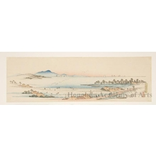 歌川広重: The Salt Beach at Gyötoku - ホノルル美術館