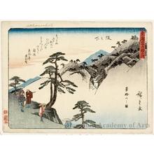 Utagawa Hiroshige: Sakanoshita (Station #49) - Honolulu Museum of Art