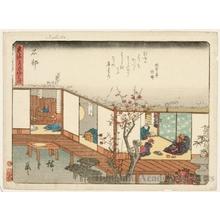 歌川広重: Ishibe (Station #52) - ホノルル美術館