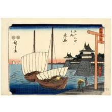 Utagawa Hiroshige: Kuwana (Station #43) - Honolulu Museum of Art