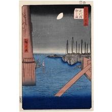 Utagawa Hiroshige: Tsukudajima from Eitai Bridge - Honolulu Museum of Art