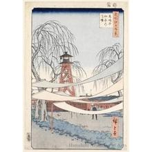 歌川広重: Hatsune Riding Ground, Bakuro-chö - ホノルル美術館