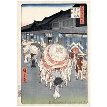 歌川広重: View of Nihonbashi Töri 1-chöme - ホノルル美術館