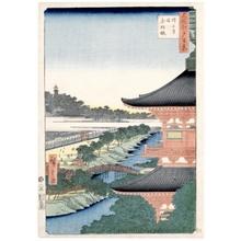 歌川広重: Zöjöji Pagoda and Akabane - ホノルル美術館
