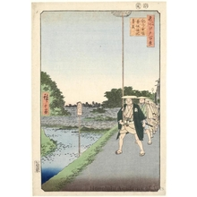 歌川広重: Kinokuni Hill and Distant View of Akasaka Tameike - ホノルル美術館