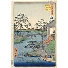 歌川広重: Mokuboji Temple, Uchigawa Inlet, Gozensaihata - ホノルル美術館