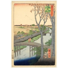 Utagawa Hiroshige: Koume Embankment - Honolulu Museum of Art