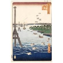歌川広重: View of Shiba Coast - ホノルル美術館