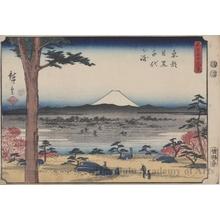 歌川広重: Töto Meguro Chiyogasaki - ホノルル美術館