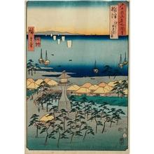 歌川広重: Settsu Province, Idemi Beach in Sumiyoshi - ホノルル美術館