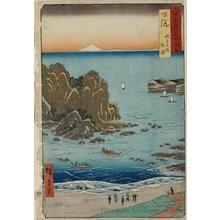 歌川広重: Shimösa Province, Chöshi Beach, Sotoura - ホノルル美術館
