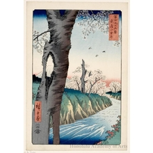 歌川広重: Koganei in Musashi Province - ホノルル美術館