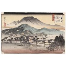 歌川広重: Evening Bell at Miidera Temple - ホノルル美術館