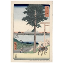 Utagawa Hiroshige: Mt. Kanö in Kazusa Province - Honolulu Museum of Art