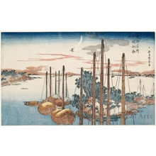 Utagawa Hiroshige: First Cuckoo at Tsukuda Island - Honolulu Museum of Art