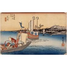Utagawa Hiroshige: Ferryboats at Arai (Station #32) - Honolulu Museum of Art