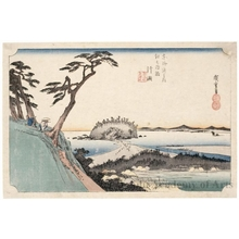 歌川広重: Katase at Enoshima Route, View of Seashore from Shichimenyama Mountain - ホノルル美術館