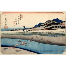 Utagawa Hiroshige: The Sakawagawa River at Odawara (Station #10) - Honolulu Museum of Art