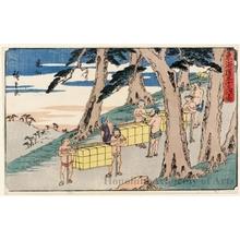 歌川広重: Kameyama - ホノルル美術館