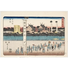 歌川広重: Shiba Shinmei Shrine Fesrival - ホノルル美術館