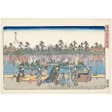 Utagawa Hiroshige: Wisteria Flowers at Kameido - Honolulu Museum of Art