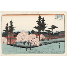 Utagawa Hiroshige: Töeizan Temple at Ueno - Honolulu Museum of Art
